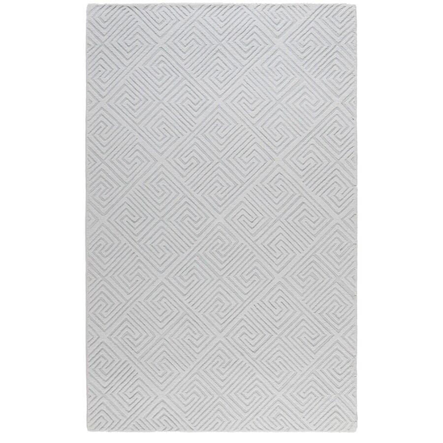 allen + roth Greek Key Rectangular Indoor Tufted Area Rug (Common: 5 x 8; Actual: 60-in W x 96-in L)