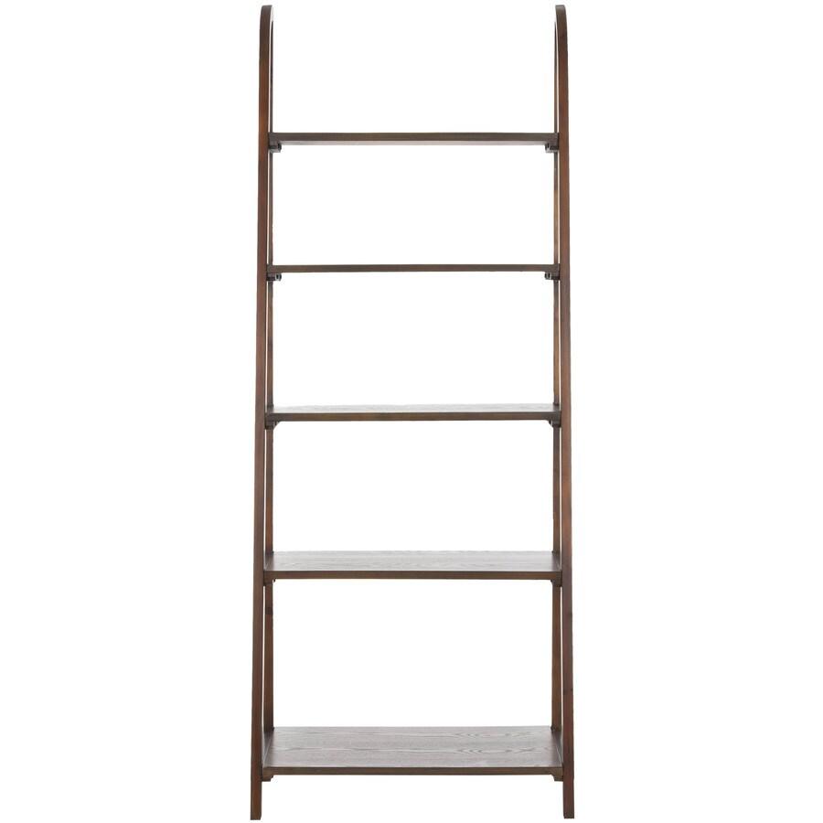 Safavieh American Home Medium Oak 28-in W x 72-in H x 16-in D 5-Shelf Bookcase