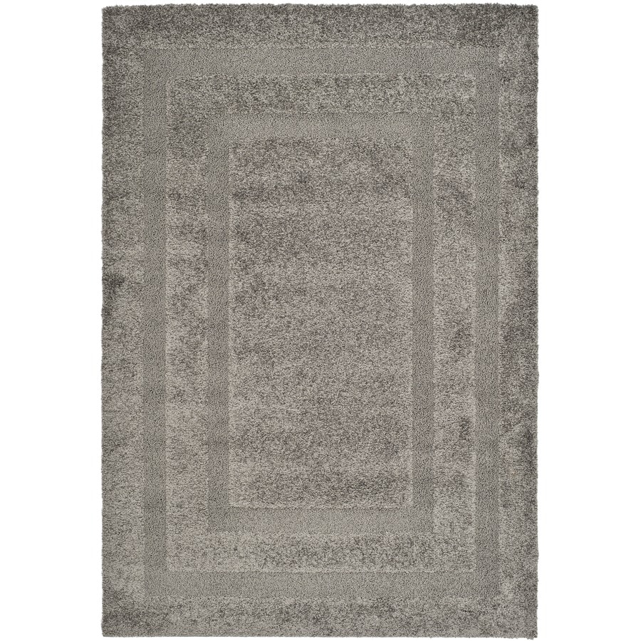 Safavieh Shag Grey and Grey Rectangular Indoor Machine-Made Area Rug (Common: 8 x 10; Actual: 96-in W x 120-in L x 0.75-ft Dia)