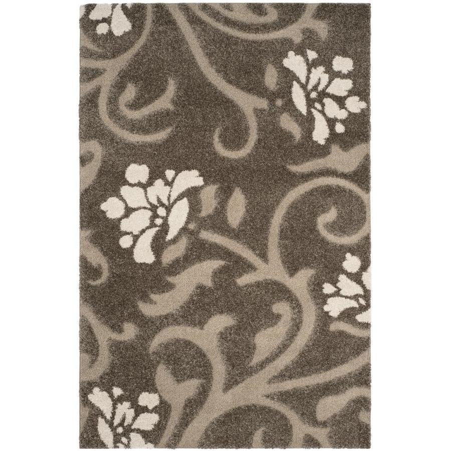 Safavieh Shag Smoke and Beige Rectangular Indoor Machine-Made Area Rug (Common: 8 x 10; Actual: 96-in W x 120-in L x 0.75-ft Dia)