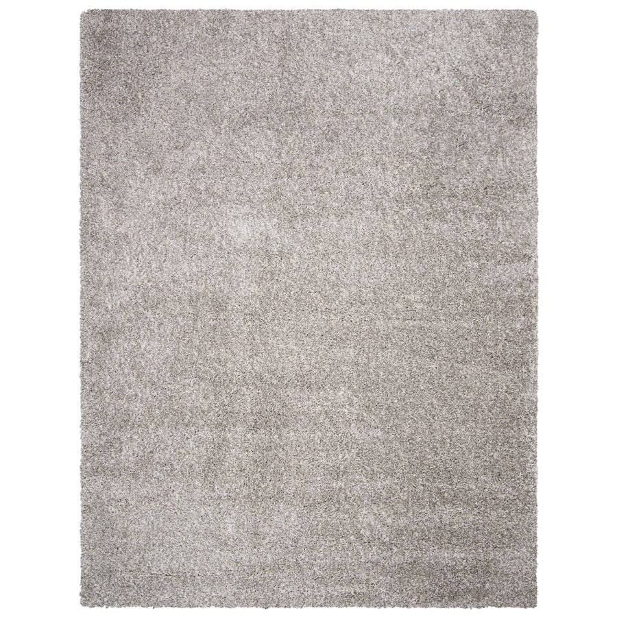 Safavieh California Shag Silver Rectangular Indoor Machine-Made Area Rug (Common: 8 x 10; Actual: 96-in W x 120-in L x 0.92-ft Dia)