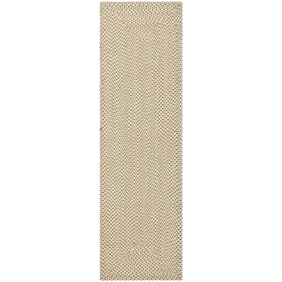 Safavieh Braid Beige and Brown Rectangular Indoor Braided Runner (Common: 2 x 6; Actual: 27-in W x 72-in L x 0.42-ft Dia)