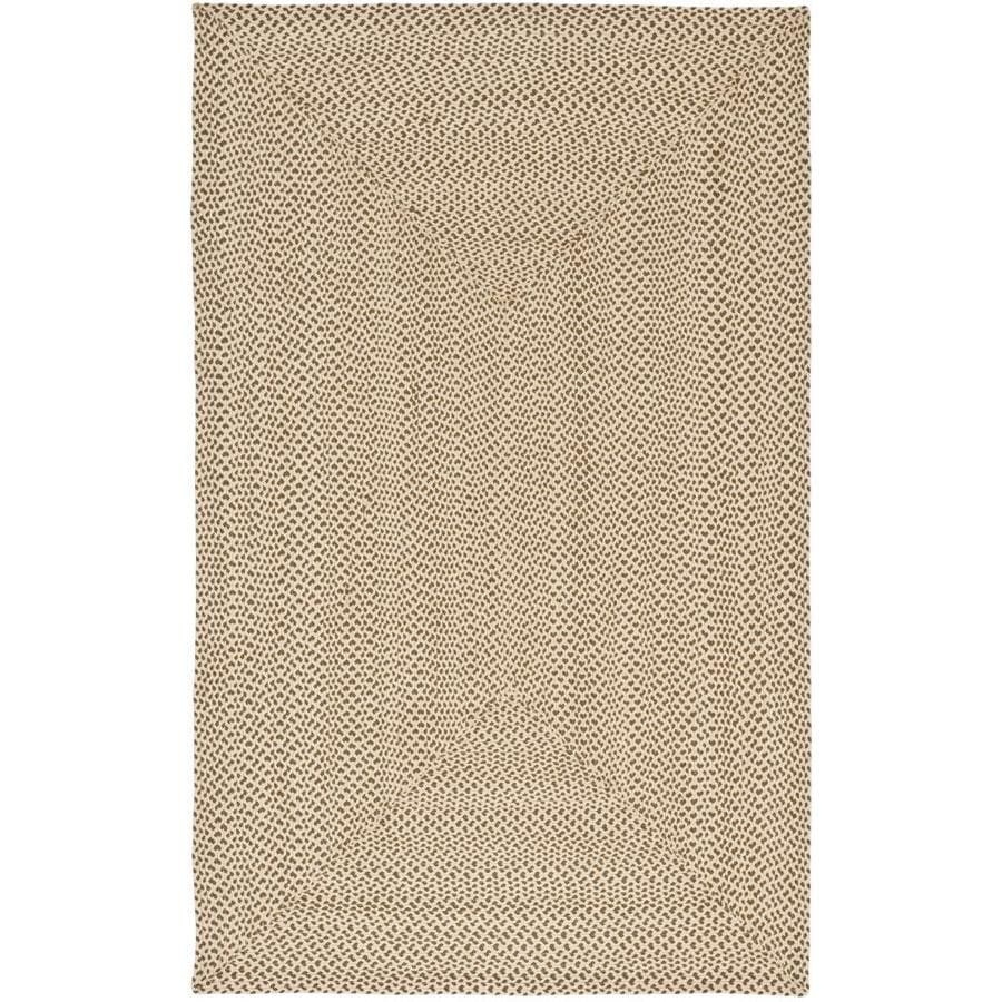 Safavieh Braid Beige and Brown Rectangular Indoor Braided Throw Rug (Common: 3 x 5; Actual: 36-in W x 60-in L x 0.33-ft Dia)