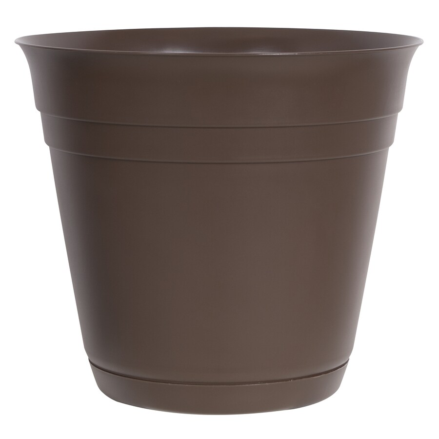10.5-in H x 12-in W x 12-in D Brown Indoor/Outdoor Planter