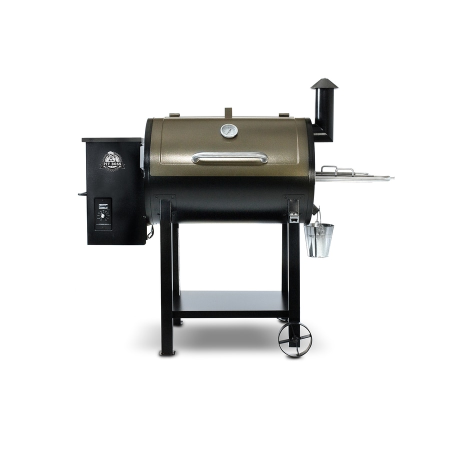 Pit Boss Pellet Grills 575-sq in Two-Tone Copper and Black High Temperature Powder Coat Pellet Grill