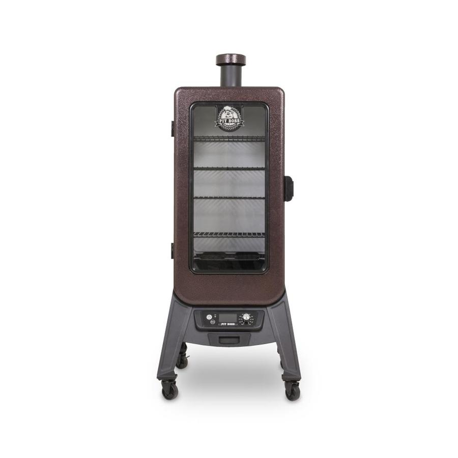 Pit Boss Pit Boss Vertical Pellet Smoker 800 Sq In Black Electric Smoker In The Electric Smokers Department At Lowes Com