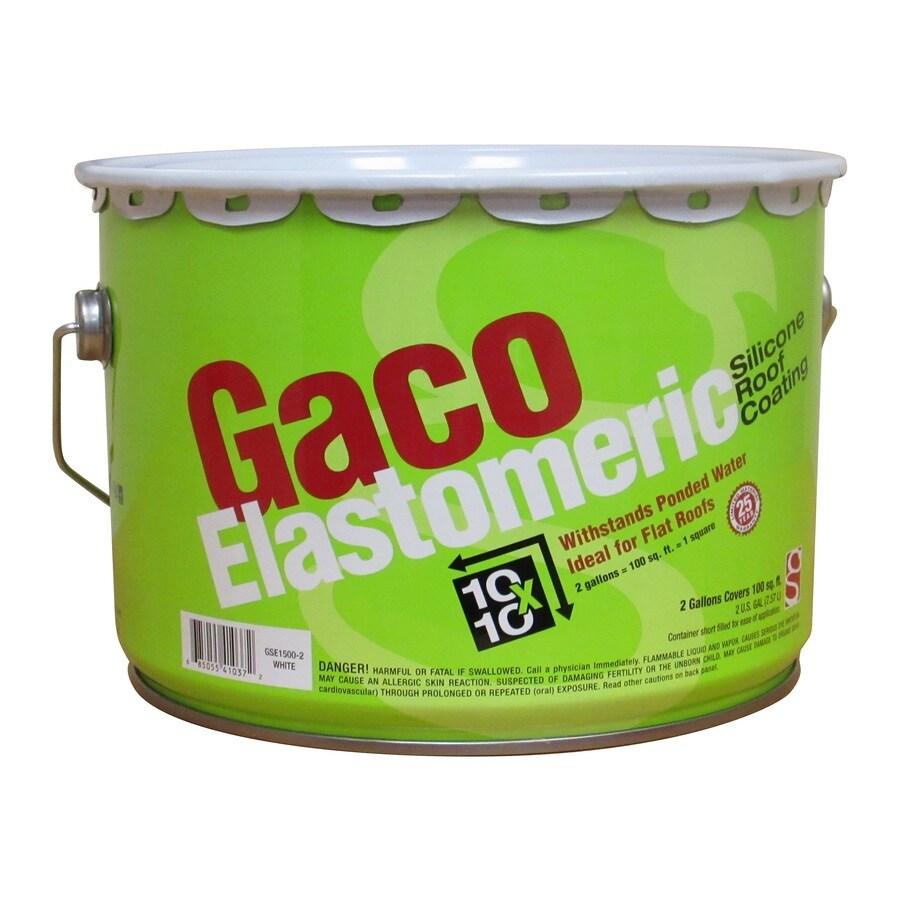 Gaco 2-Gallon Elastomeric Reflective Roof Coating (25-Year Limited Warranty)