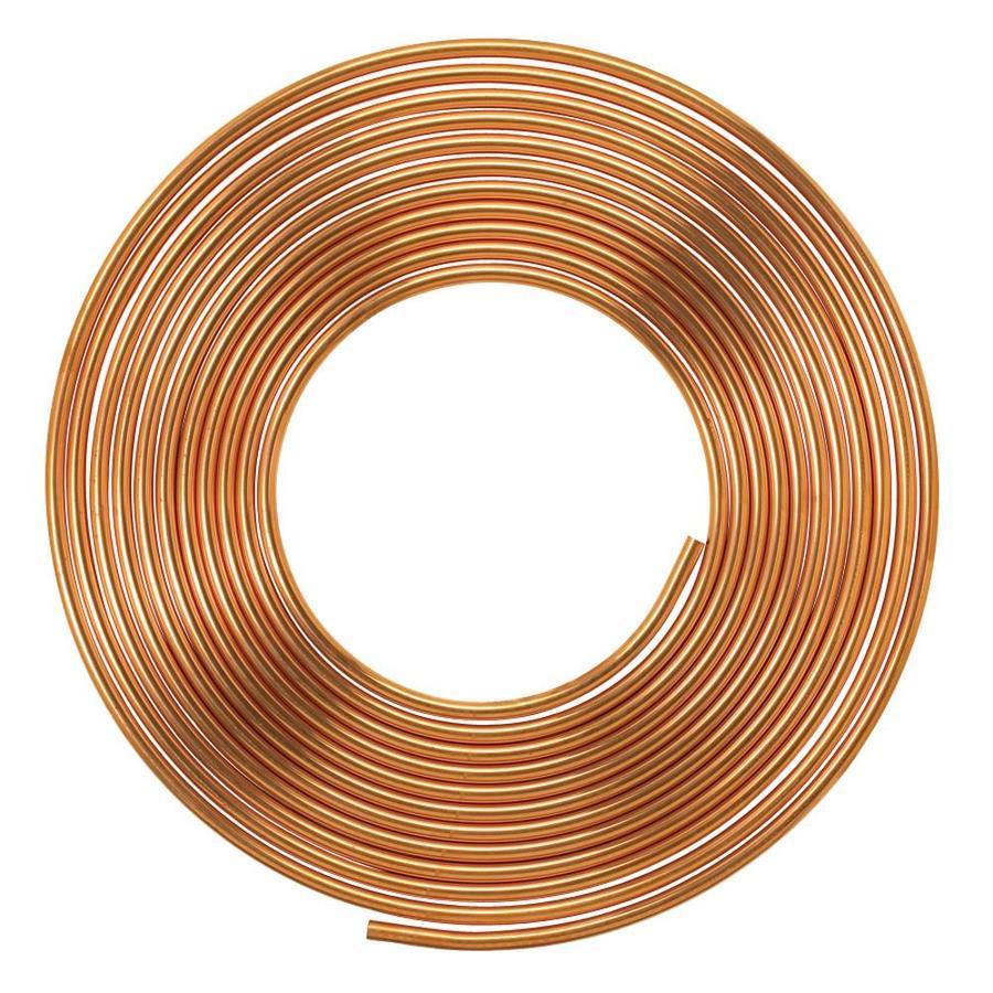 Mueller 1/4-in dia x 5-ft L Coil Copper Pipe