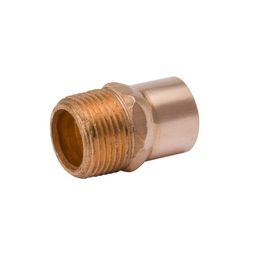 Mueller Streamline 25-Pack 1/2-in x 1/2-in Copper Solder Adapter Fittings