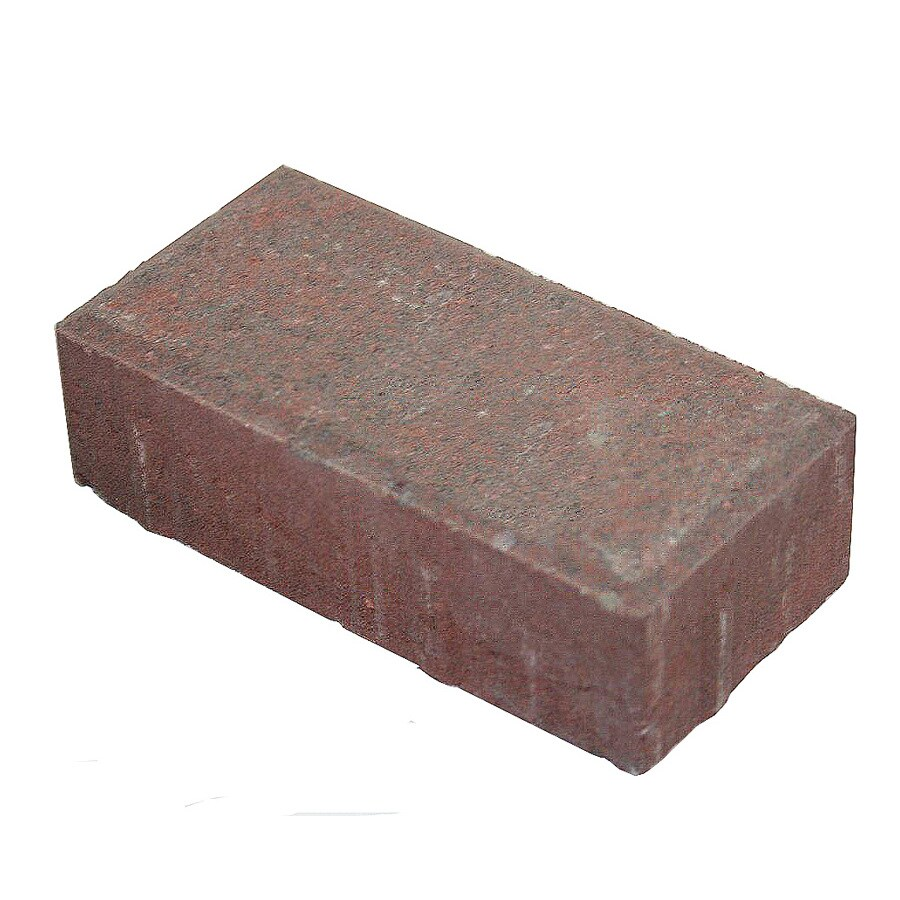 Red Charcoal Blend Rectangle Concrete Paver (Common: 4-in x 8-in; Actual: 4-in x 8-in)
