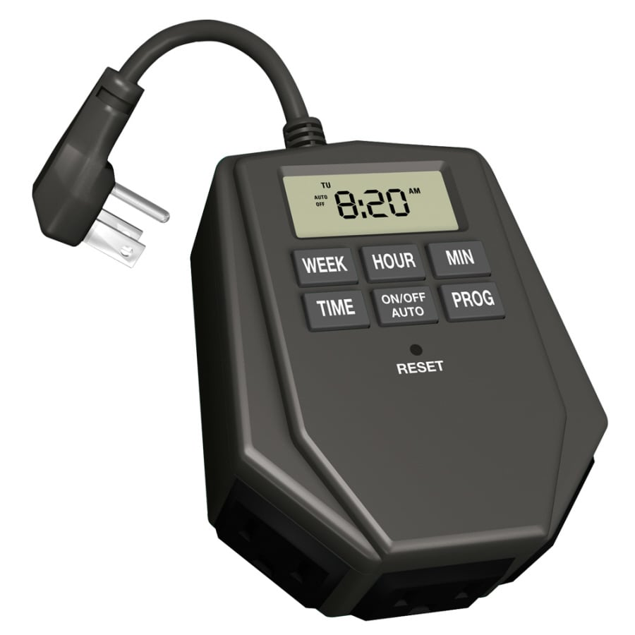 Utilitech Outdoor Digital Photocell Tri-Mode Lighting Timer