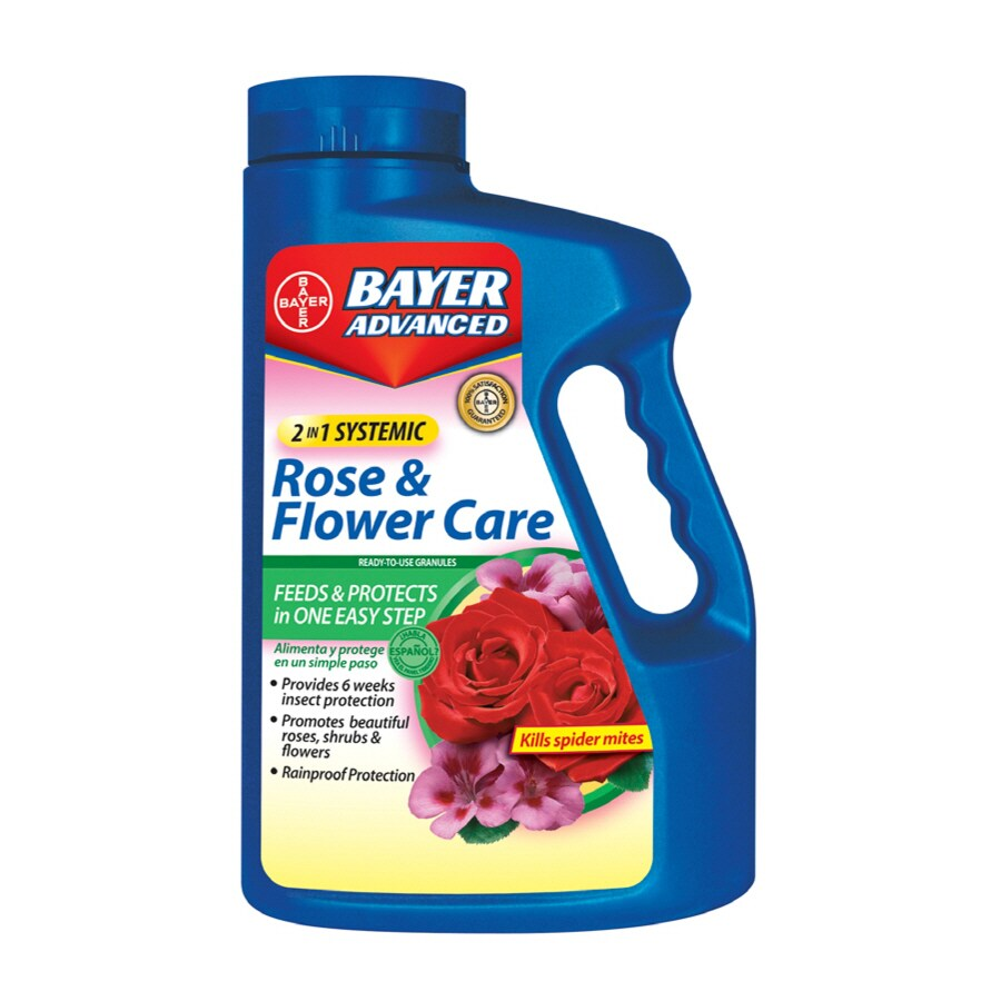 BAYER ADVANCED 64oz 2-in-1 Systemic Rose and Flower Care Granules