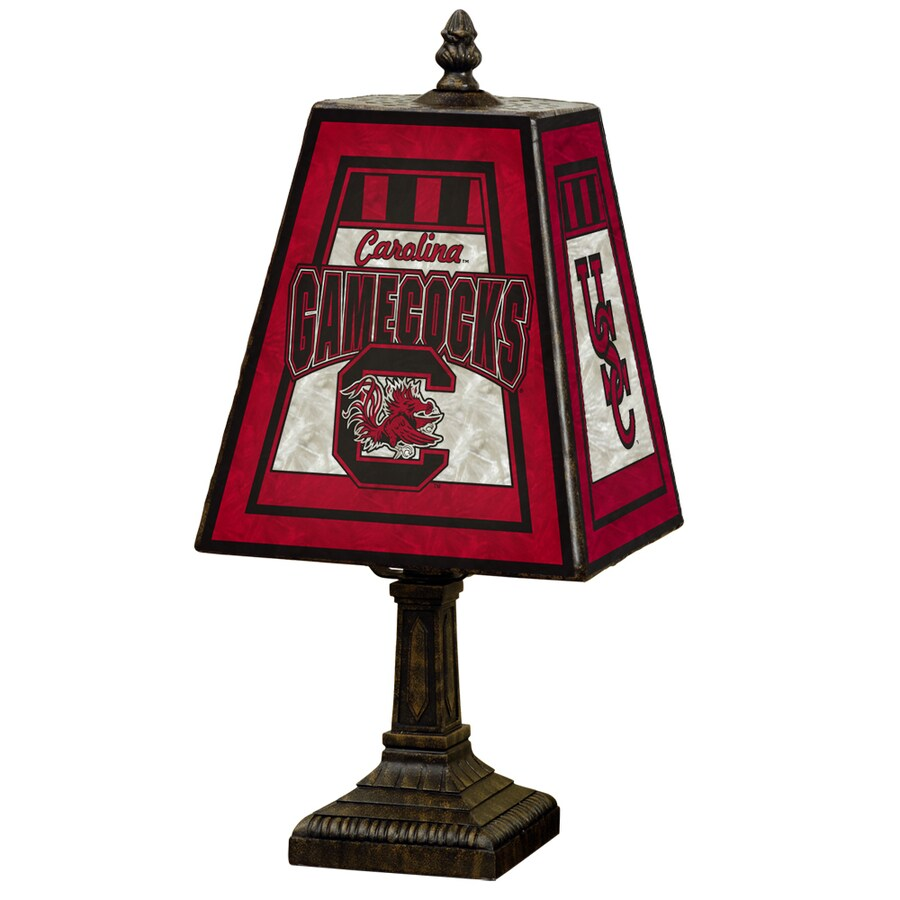 The Memory Company Art Glass 14.5-in Brass Indoor Table Lamp with Glass Shade