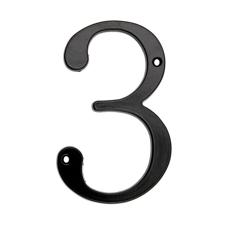 """Gatehouse 5"""" Black Number 3"""