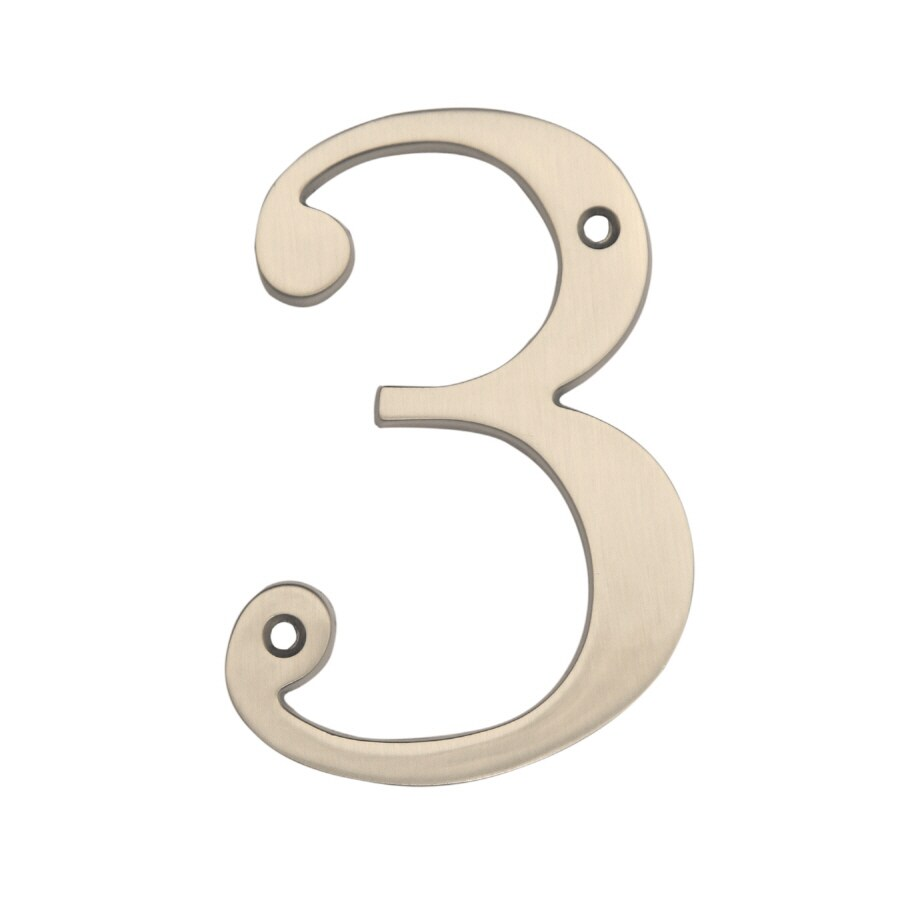 Gatehouse 3.94-in Satin Nickel House Number
