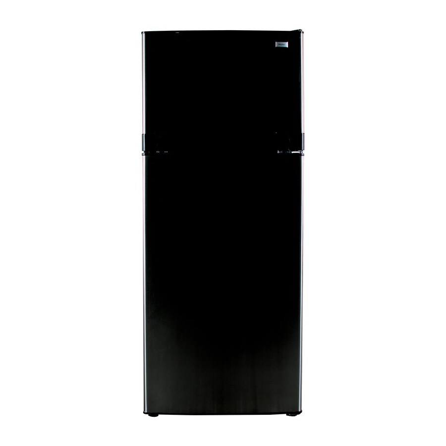Haier 10.3-cu ft Top-Freezer Refrigerator (Black)