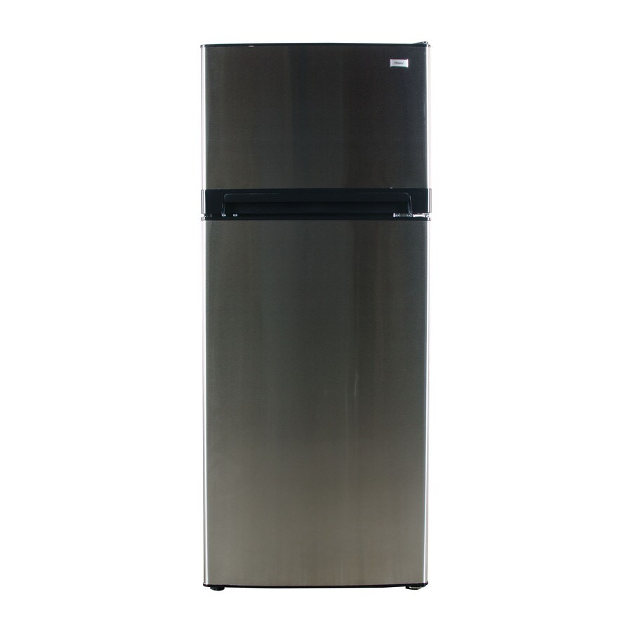 Haier 10.3-cu ft Top-Freezer Refrigerator (Stainless Steel)