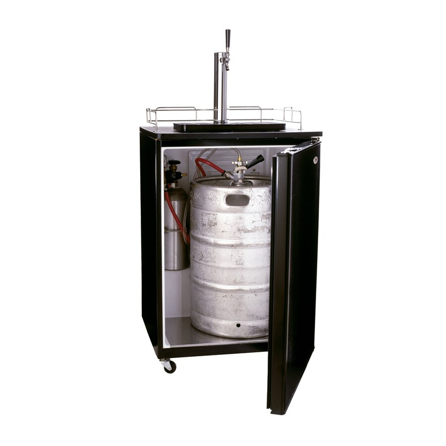 Haier Single Tap Brewmaster Black Freestanding Kegerator