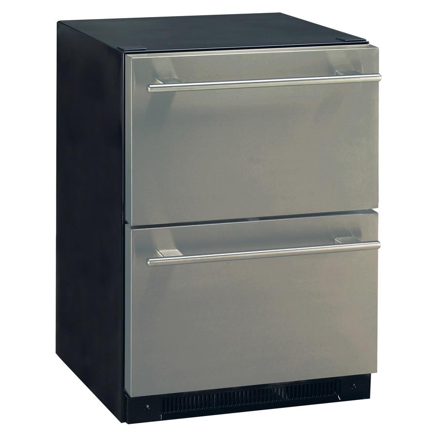 Haier 23.875-in Built-In/Freestanding Drawer Refrigerator (Stainless Steel)