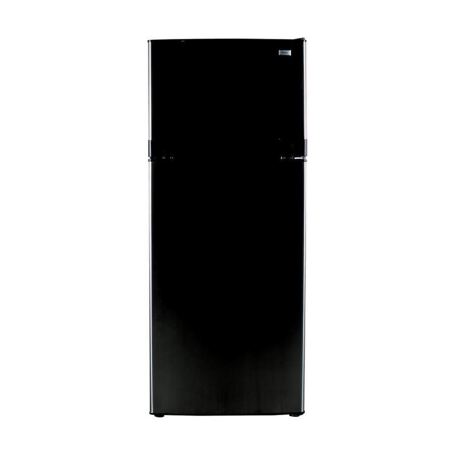 Haier 10.11-cu ft Top-Freezer Refrigerator (Black)
