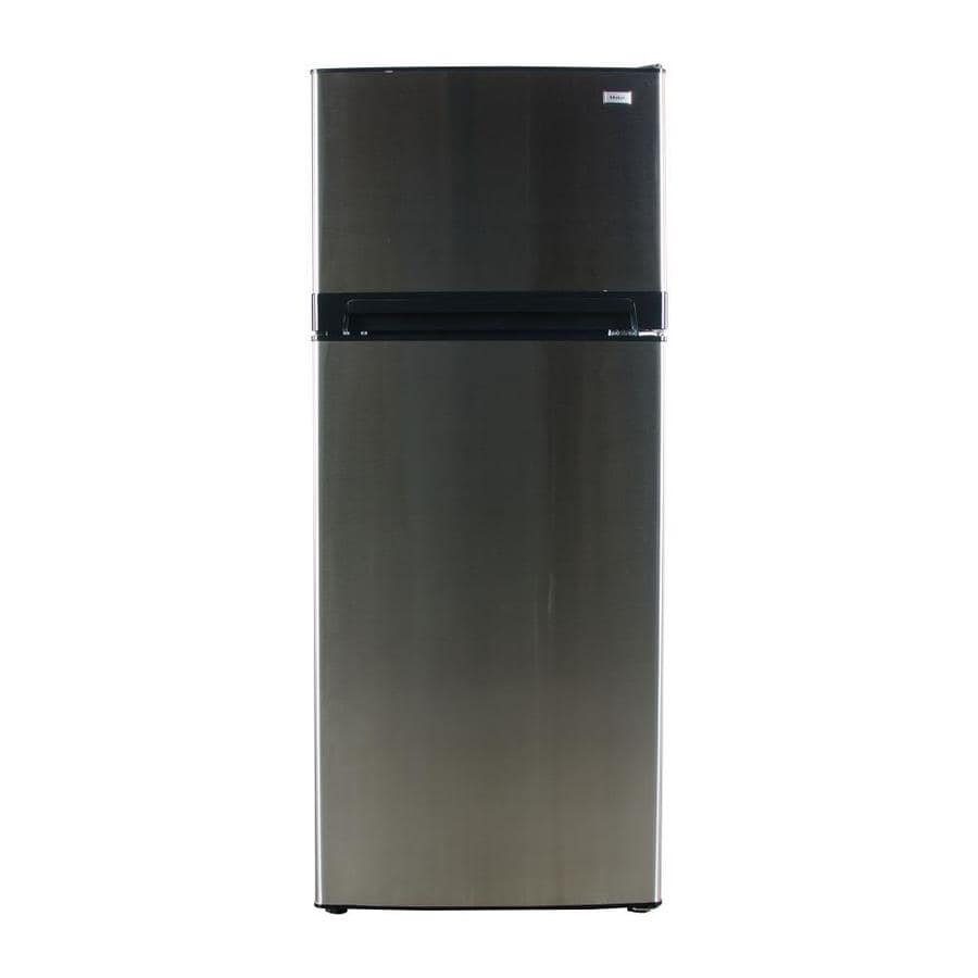 Shop Haier 10 11 Cu Ft Top Freezer Refrigerator Stainless