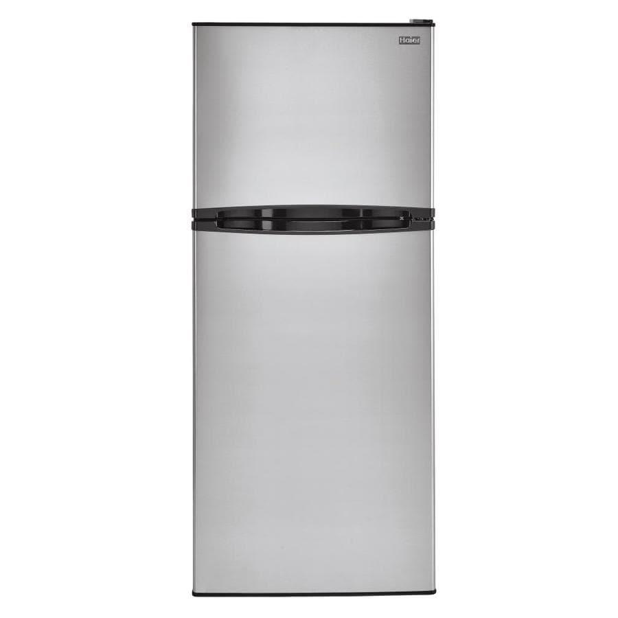 Haier 11.5-cu ft Top-Freezer Refrigerator (Stainless)