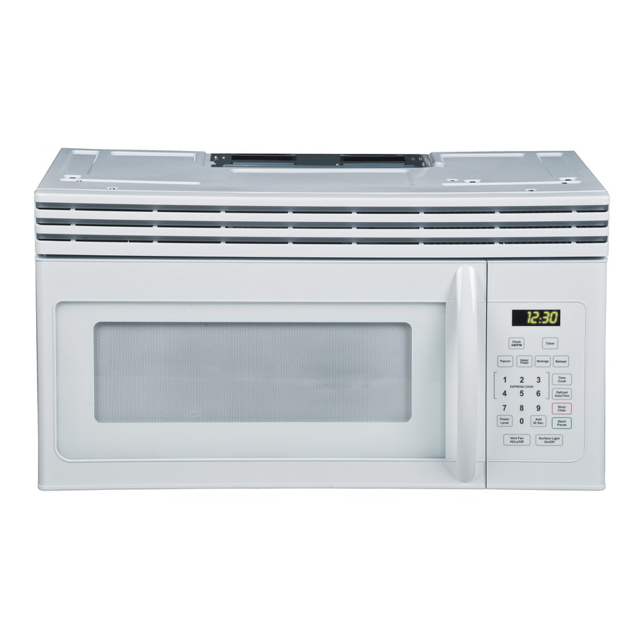 Haier 1.6-cu ft Over-The-Range Microwave with Sensor Cooking Controls (White) (Actual: 29.87-in)