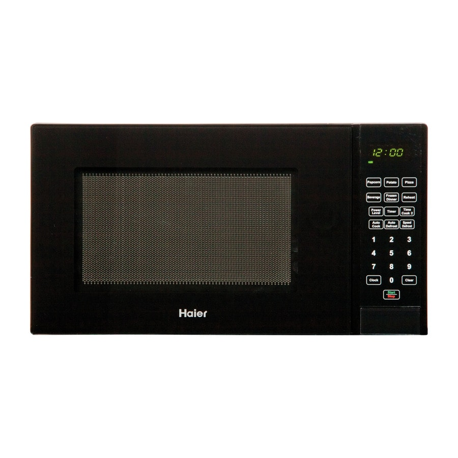 Haier 0.9-cu ft 900-Watt Countertop Microwave (Black)