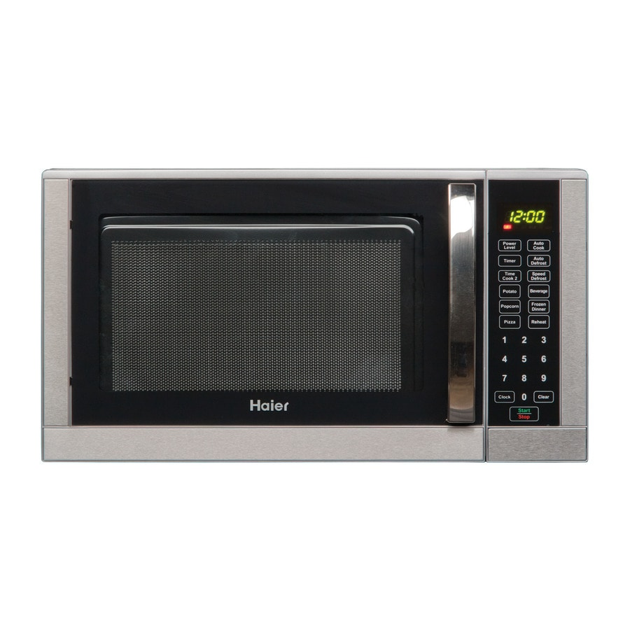 ... Haier 0.9-cu ft 900-Watt Countertop Microwave (Silver) at Lowes.com