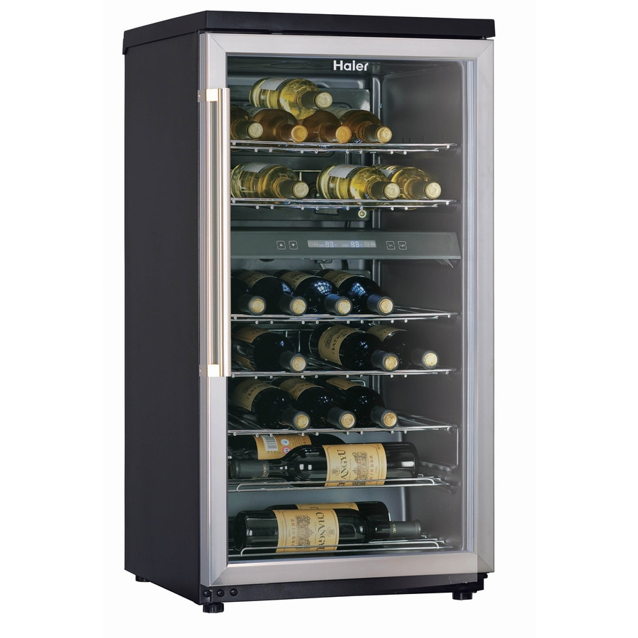 Haier 40 Bottle Capacity with Dual Storage Compartment
