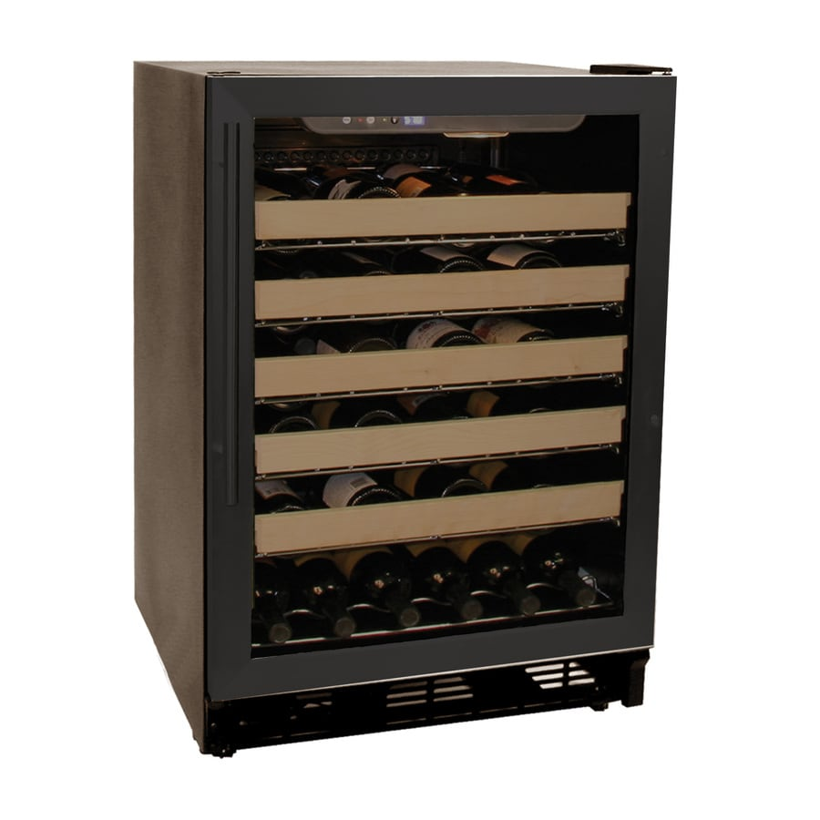 Haier 50-Bottle Black Built-In Wine Chiller