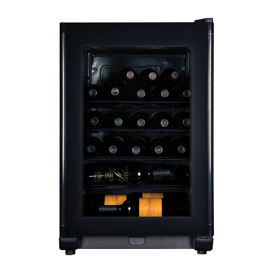 Haier 24-Bottle Black Freestanding Wine Chiller