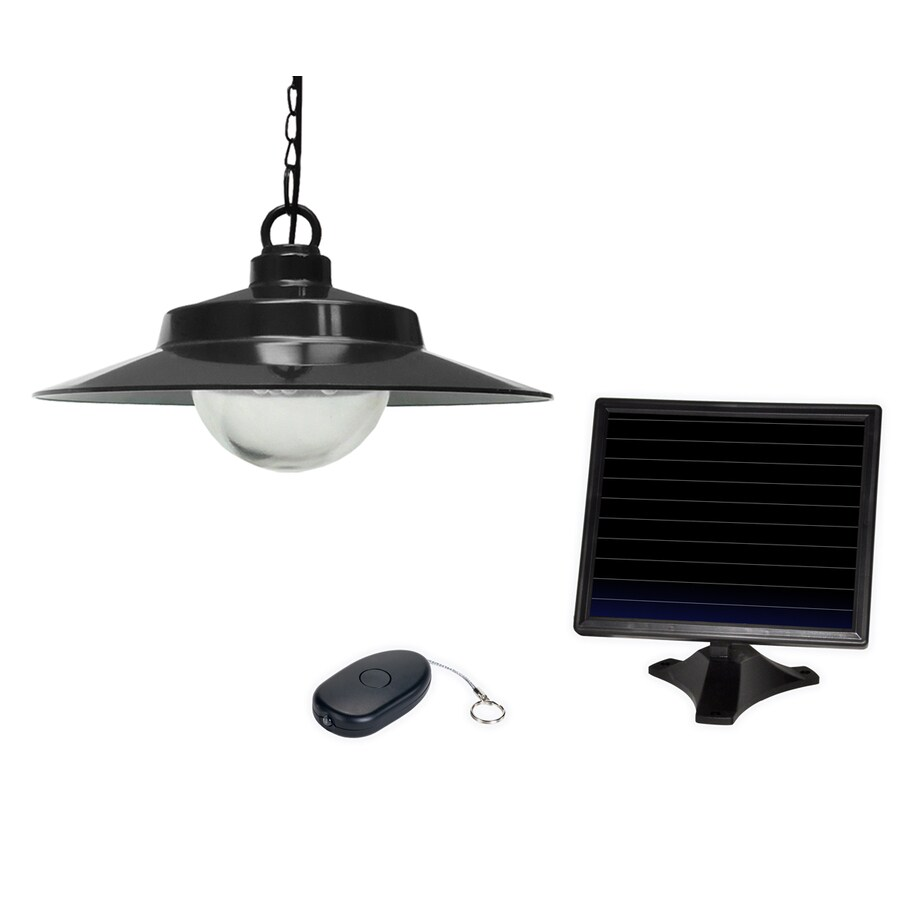 shop sunforce black solar outdoor pendant light at. Black Bedroom Furniture Sets. Home Design Ideas
