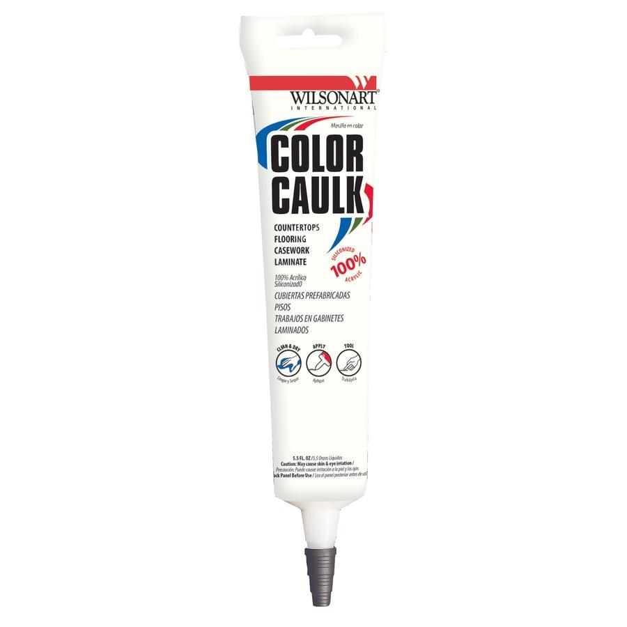 Wilsonart 5-oz Caldera Beige Paintable Siliconized Acrylic Kitchen and Bathroom Caulk