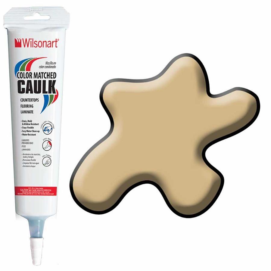 Wilsonart 5-oz Soft Gold Mesh Paintable Siliconized Acrylic Kitchen and Bathroom Caulk