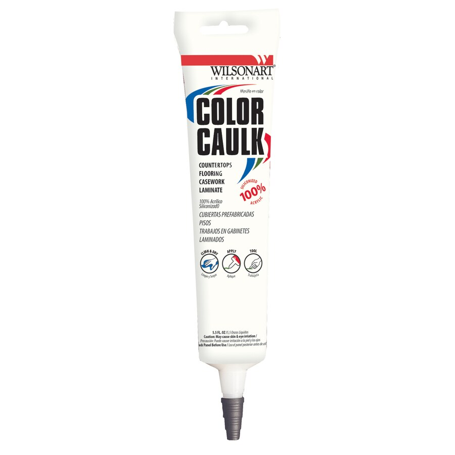 Wilsonart 5.5-oz Polished Mosaic Paintable Siliconized Acrylic Kitchen and Bathroom Caulk