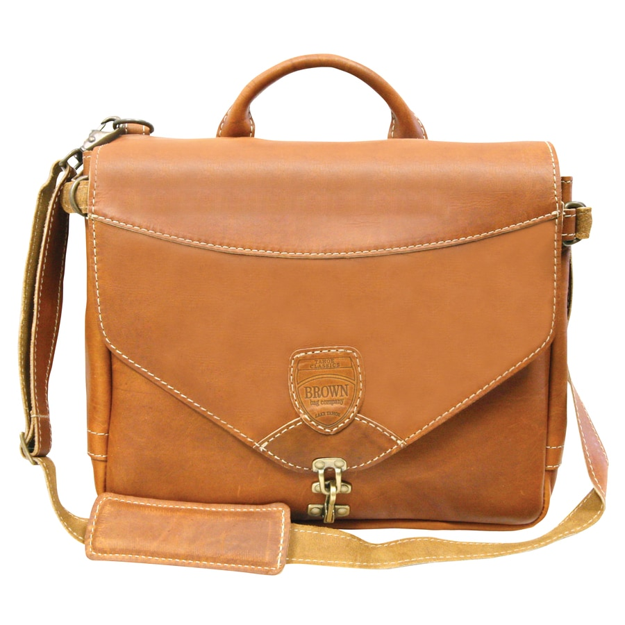 Brown Bag Company Leather Clasp Closed Tool Bag