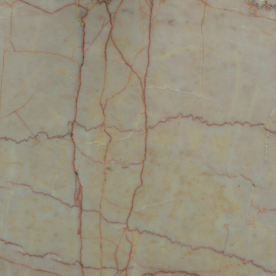 Bedrosians 12-in x 12-in Rose Marble Floor Tile