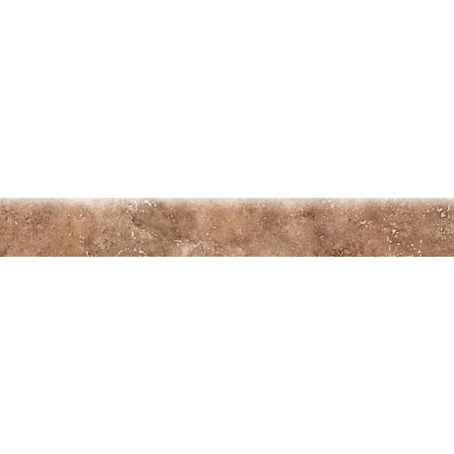 Bedrosians Roma Noce Porcelain Bullnose Tile (Common: 3-in x 20-in; Actual: 2.75-in x 19.75-in)