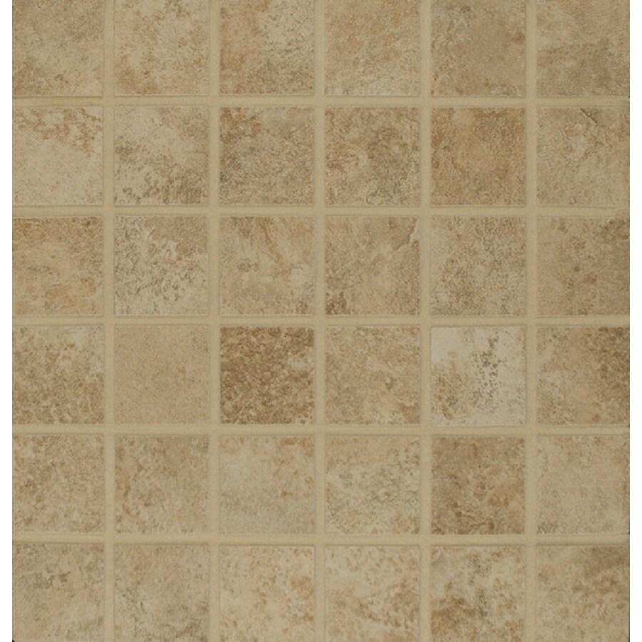 Bedrosians Fantasia Almond Uniform Squares Mosaic Porcelain Floor Tile (Common: 13-in x 13-in; Actual: 12.875-in x 12.875-in)