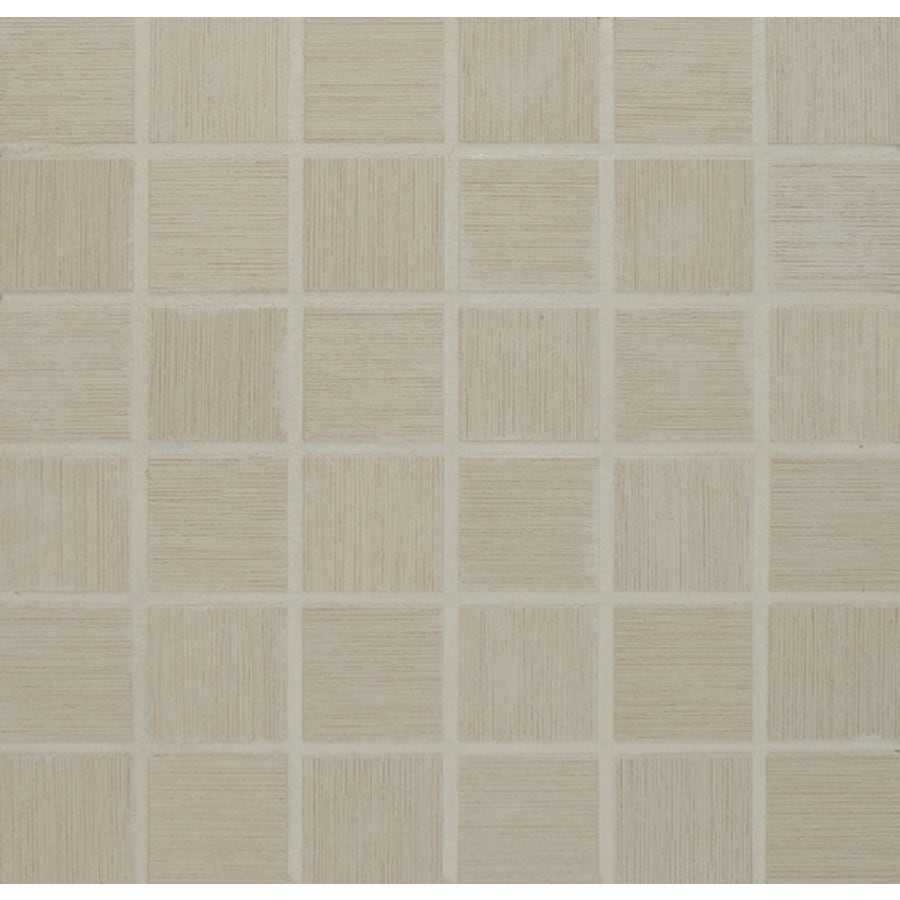 Bedrosians Silk Road White Glazed Porcelain Mosaic Square Indoor/Outdoor Floor Tile (Common: 13-in x 13-in; Actual: 12.875-in x 12.875-in)