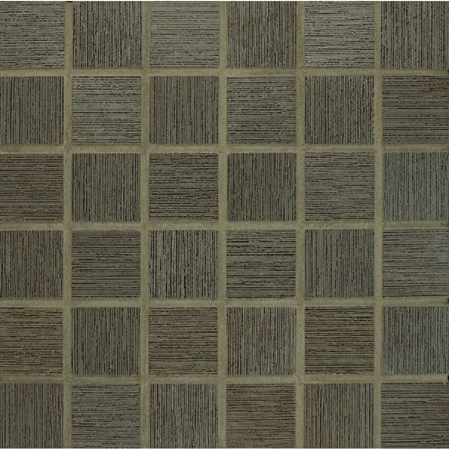 Bedrosians Silk Road Iron Uniform Squares Mosaic Porcelain Floor Tile (Common: 13-in x 13-in; Actual: 12.875-in x 12.875-in)