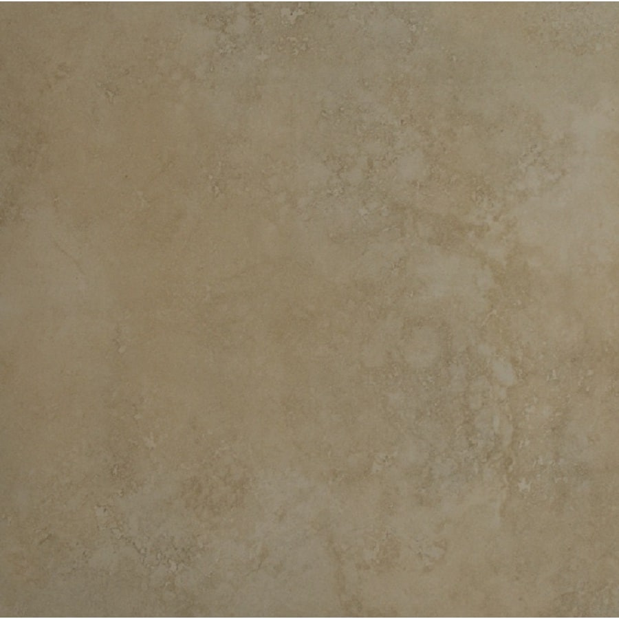 Bedrosians Roma 6-Pack Almond Porcelain Floor Tile (Common: 20-in x 20-in; Actual: 19.68-in x 19.68-in)