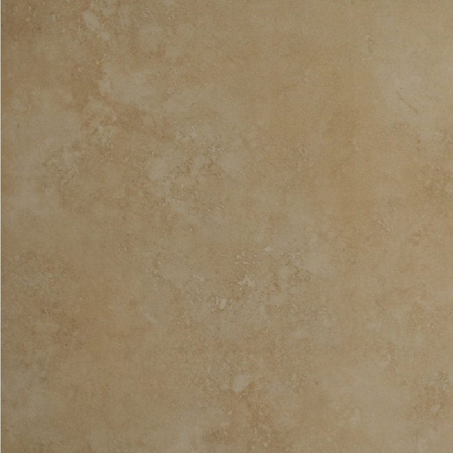 Bedrosians Roma 6-Pack Beige Porcelain Floor Tile (Common: 20-in x 20-in; Actual: 19.68-in x 19.68-in)