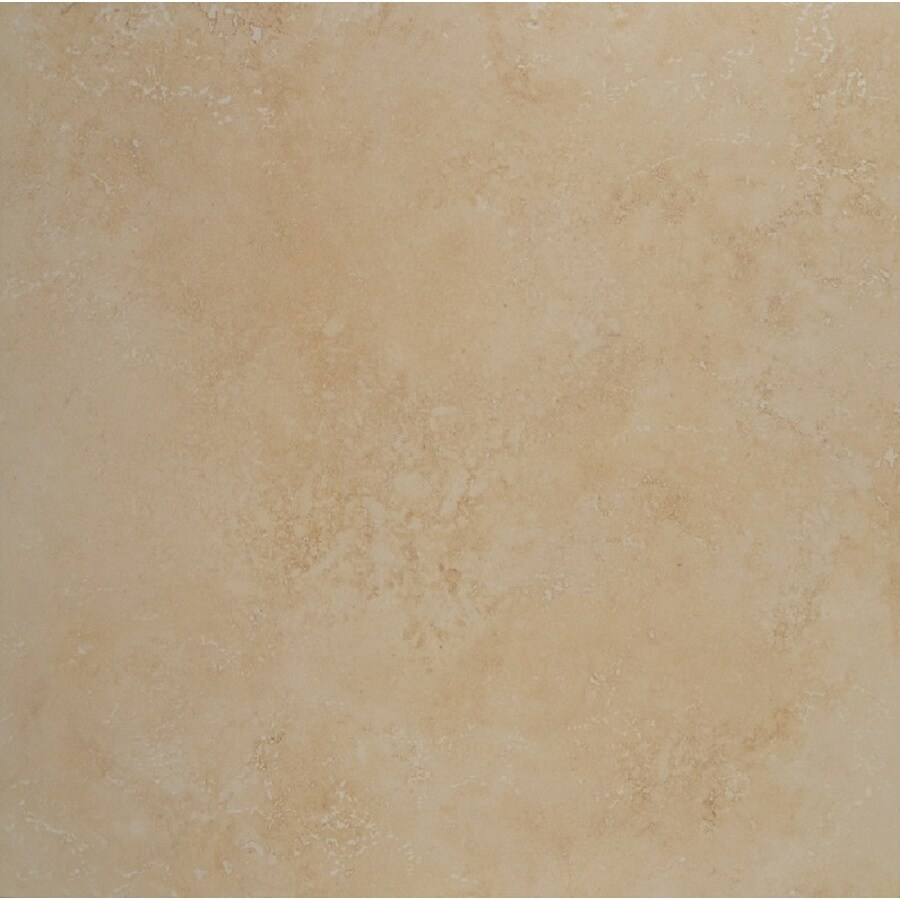 Bedrosians 6-Pack VERONA Beige Glazed Porcelain Indoor/Outdoor Floor Tile (Common: 20-in x 20-in; Actual: 19.68-in x 19.68-in)
