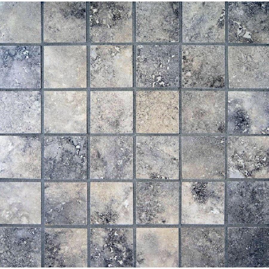 Shop Bedrosians Verona Olive Uniform Squares Mosaic Porcelain Floor Tile Common 13 In X 13 In