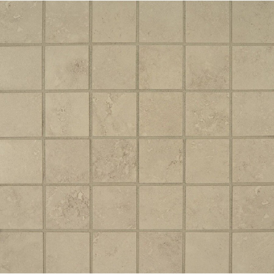 Bedrosians Verona Silver Uniform Squares Mosaic Porcelain Floor Tile (Common: 13-in x 13-in; Actual: 12.875-in x 12.875-in)