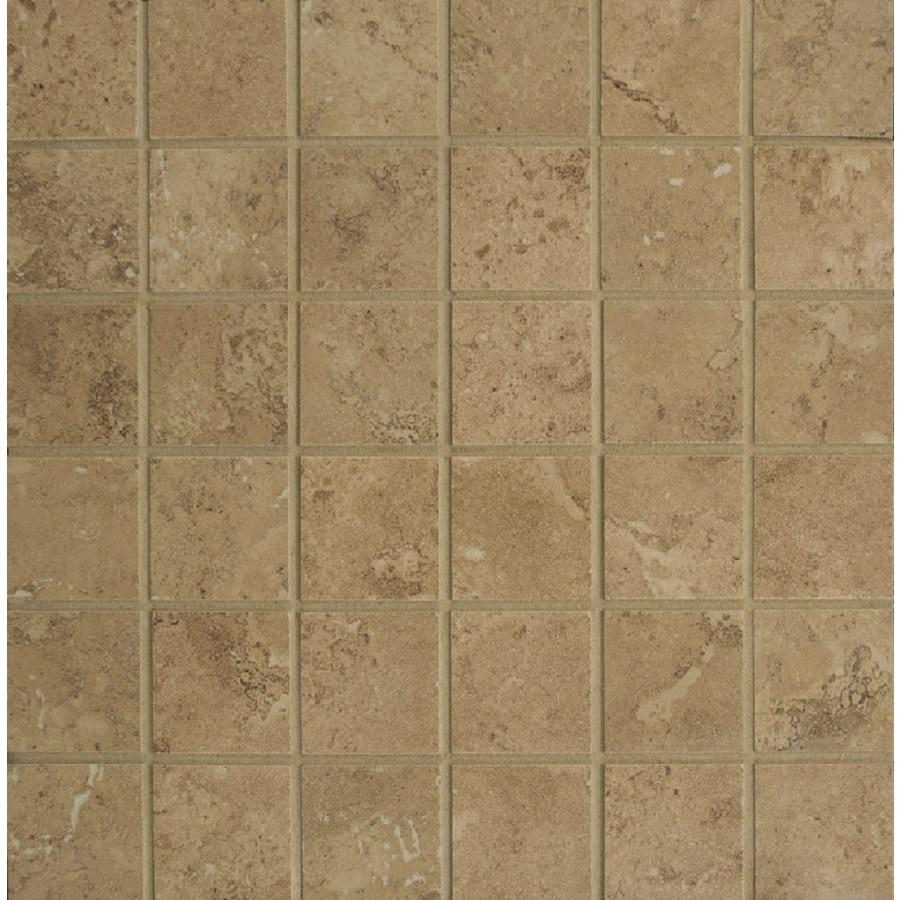 Bedrosians Verona Taupe Uniform Squares Mosaic Porcelain Floor Tile (Common: 13-in x 13-in; Actual: 12.875-in x 12.875-in)
