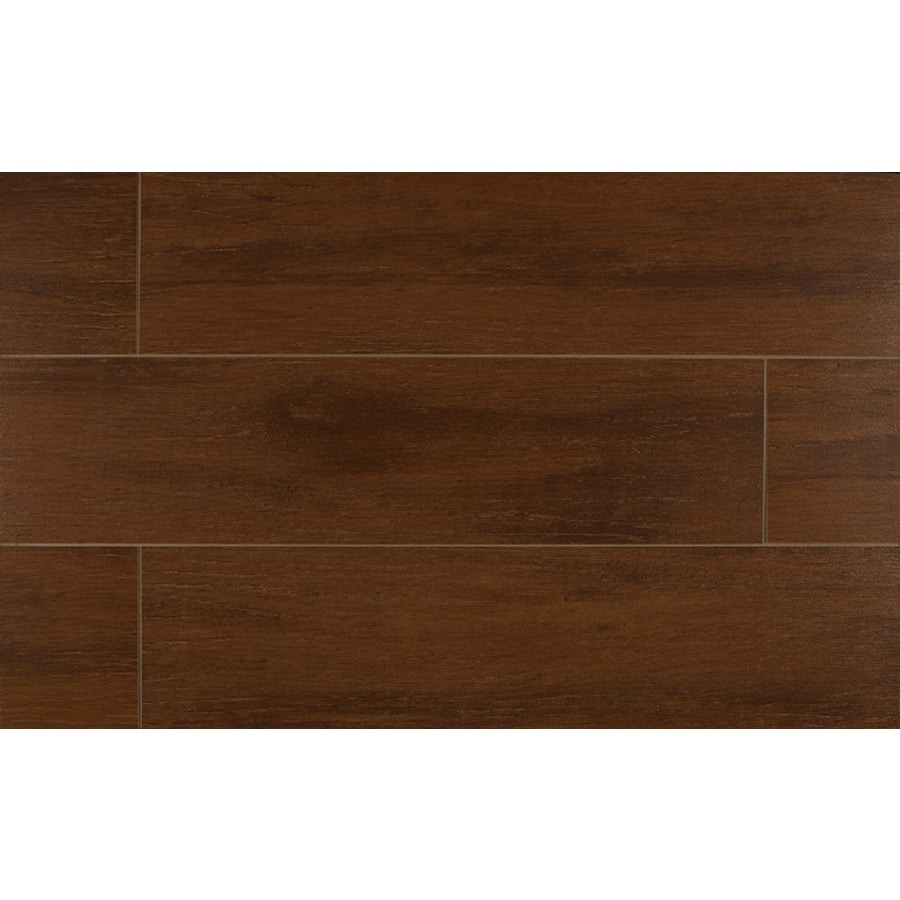 Bedrosians Prestige-Z 12-Pack Cherry Porcelain Floor Tile (Common: 6-in x 24-in; Actual: 5.88-in x 23.75-in)