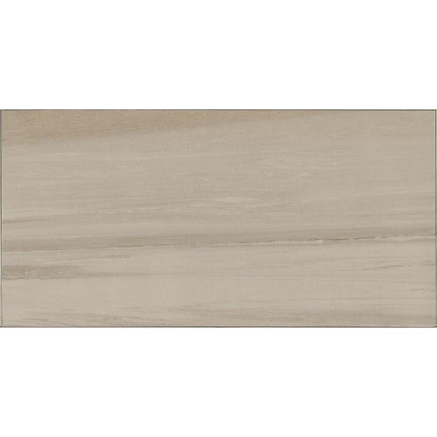 Bedrosians Rosewood 9-Pack Silver Porcelain Floor Tile (Common: 12-in x 24-in; Actual: 11.75-in x 23.62-in)